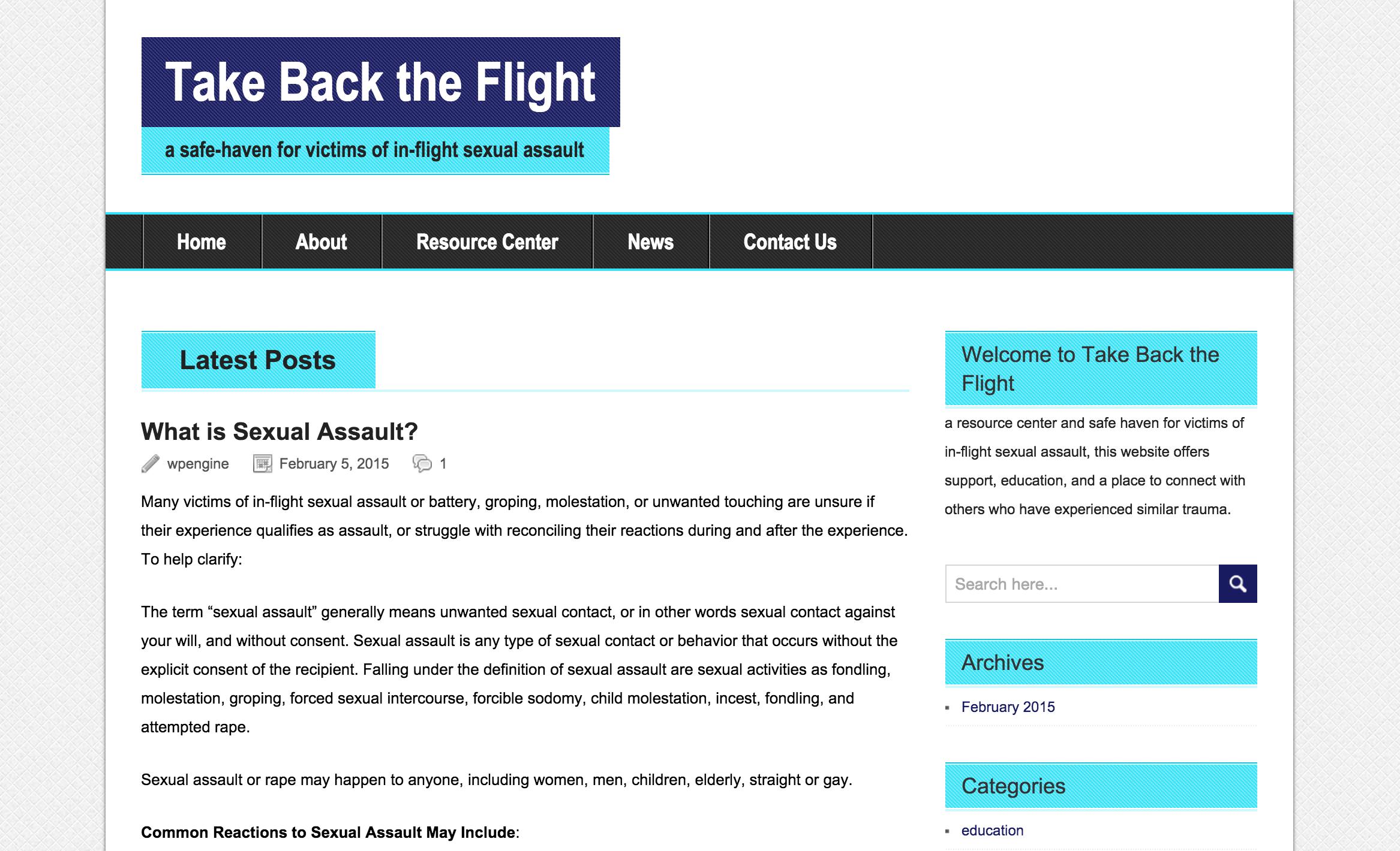in flight sexual assault resource